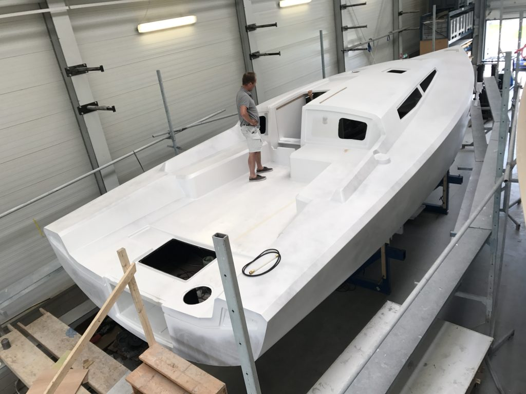 Agile 42 deck after paint